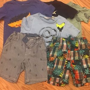 Toddler T-shirts and shorts